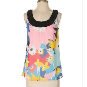 Tops - Kensie Silk Pink Printed Sleeveless Blouse